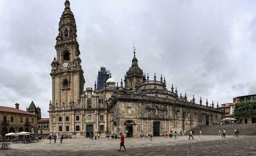 La famosa cattedrale di Santiago de Compostela