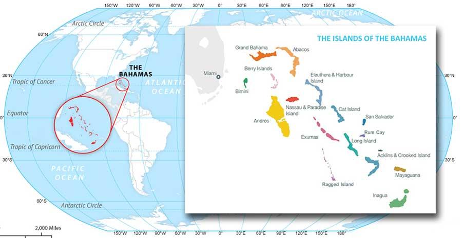 Le Bahamas o Bahama sono uno stato insulare dell'America centrale