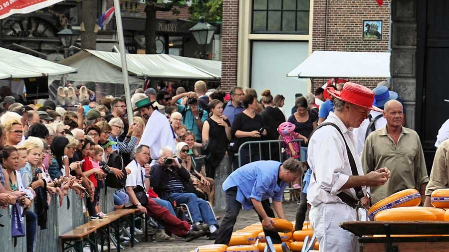 Alkmaar e il mercato del formaggio