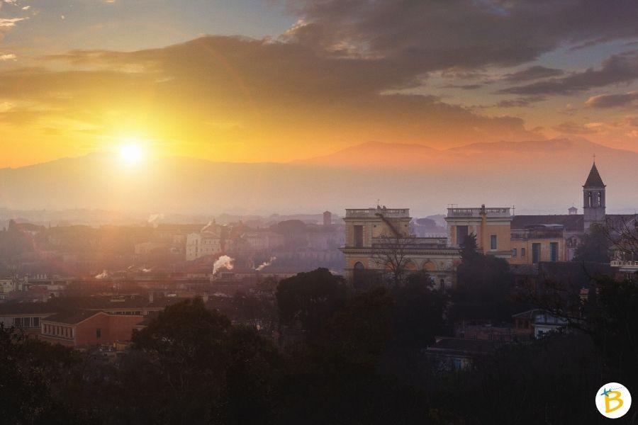 Vista su Roma dal Gianicolo